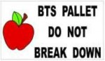 BTS pallet label