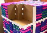 BTS school box pallet construction