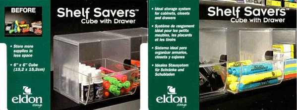 Shelf Savers Cube w/ Drawer packaging