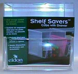 Shelf Savers Cube w/ Drawer packaging prototype