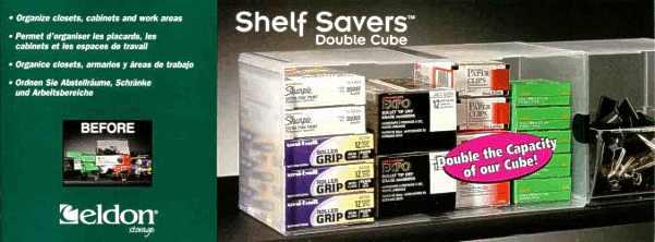 Shelf Savers Double Cube packaging