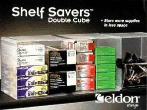 Shelf Savers Double Cube packaging, side