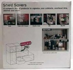 Shelf Savers Starter Kit packaging, back