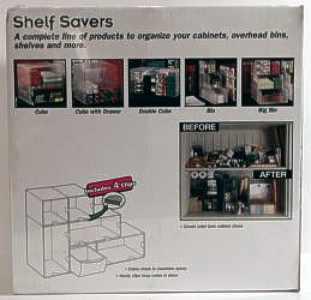 Shelf Savers Starter Kit packaging, back
