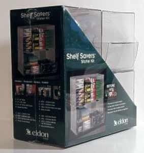 Shelf Savers Starter Kit packaging, left side