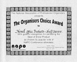 NAPO's Organizers Choice Award 2001 for Shelf Savers