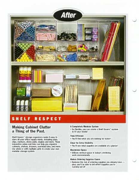 Shelf Savers sell sheet introducing line extensions, after image