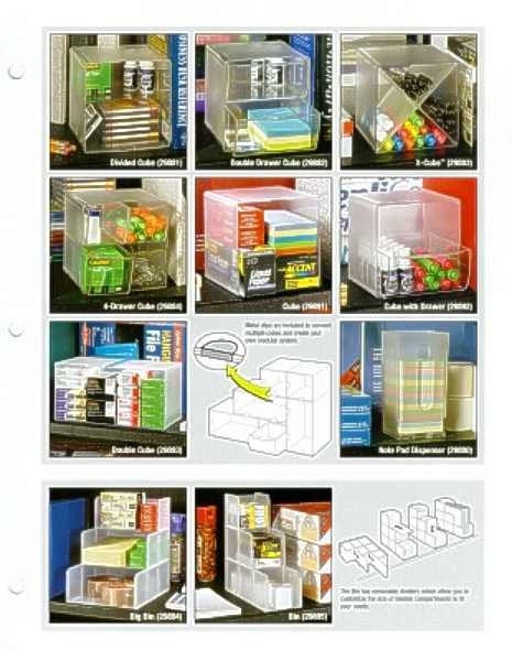 Shelf Savers sell sheet, page 1 of products