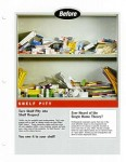 Shelf Savers sell sheet introducing line extensions, before image