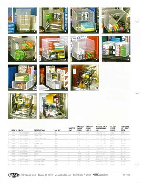 Shelf Savers sell sheet, product spec & pricing