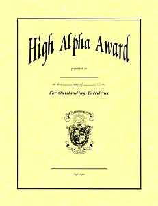 High Alpha Award