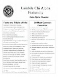 Lambda Chi Alpha rush facts sheet
