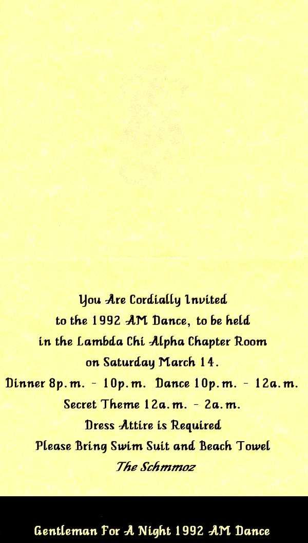 Associate Member dance invite, inside