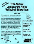 LCA 11th Annual Volleyball Marathon mailer