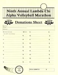 LCA 9th Annual Volleyball Marathon donation sheet