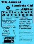 LCA 9th Annual Volleyball Marathon poster