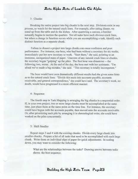 High Zeta training manual, page 22