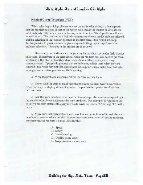 High Zeta training manual, page 27