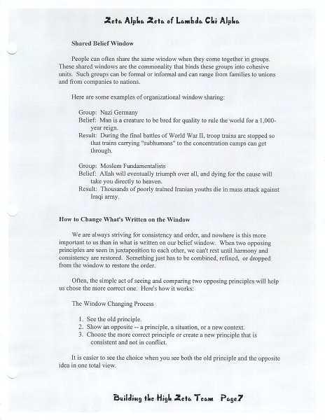 High Zeta training manual, page 6