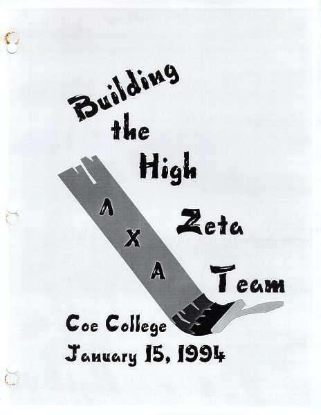 High Zeta training manual cover
