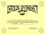 Levolor University diploma