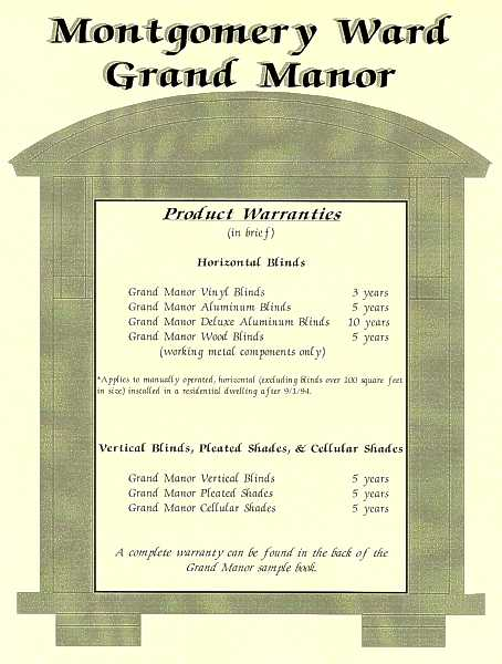 Montgomery Ward Grand Manor program
