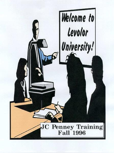 Levolor University, JC Penney training, cover