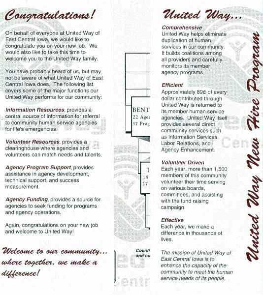 UW-ECI Invest in Your Future brochure, inside 1