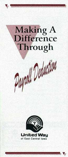 UW-ECI Payroll Deduction brochure, cover