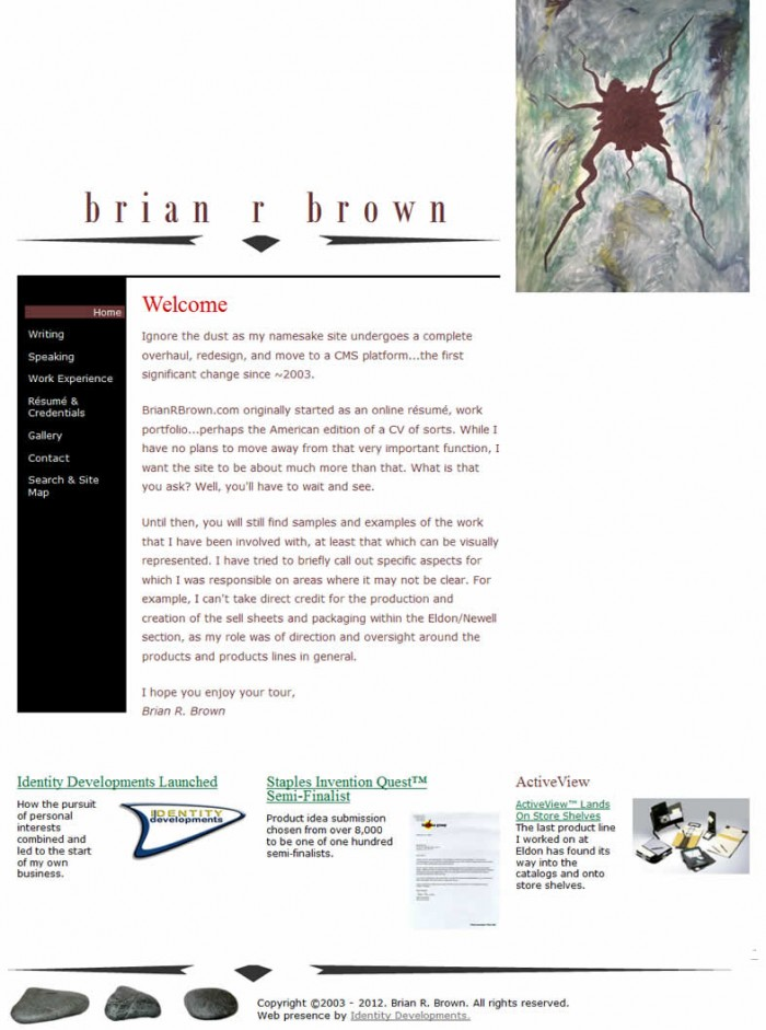 2009 Website Homepage