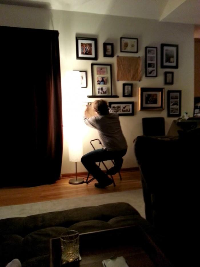Photo Wall Work in Progress